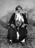 Sayyid Sir Hamoud bin Mohammed Al-Said, GCSI, (1853 - July 18, 1902) (ruled August 27, 1896 - July 18, 1902) (Arabic: حمود بن محمد‎) was the British-controlled Omani sultan of the protectorate of Zanzibar, who outlawed slavery on the island.<br/><br/>  Hamoud became sultan with the support of the British consul, Sir Basil Cave, upon the death of Hamad bin Thuwaini. Before he could enter the palace, another potential contender for the throne, Khalid bin Barghash, seized the palace and declared himself sultan. The British responded the next day, August 26, 1896, by issuing an ultimatum to Khalid and his entourage to evacuate the palace by 9:00 am on August 27. When he refused, British warships fired on the palace and other strategic locations in the city, destroying them and causing Khalid and his group to flee. According to the Guinness Book of World Records the resultant Anglo-Zanzibar War was the shortest war in history, and the same day Hamoud was able to assume the title of sultan, more indebted to the British than ever.<br/><br/>  Hamoud demanded that slavery be banned in Zanzibar and that all the slaves be freed.
